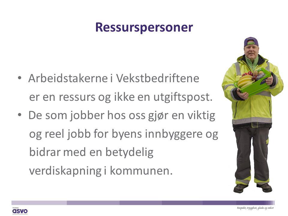 Ressurspersoner Arbeidstakerne i Vekstbedriftene er en ressurs og ikke en utgiftspost.