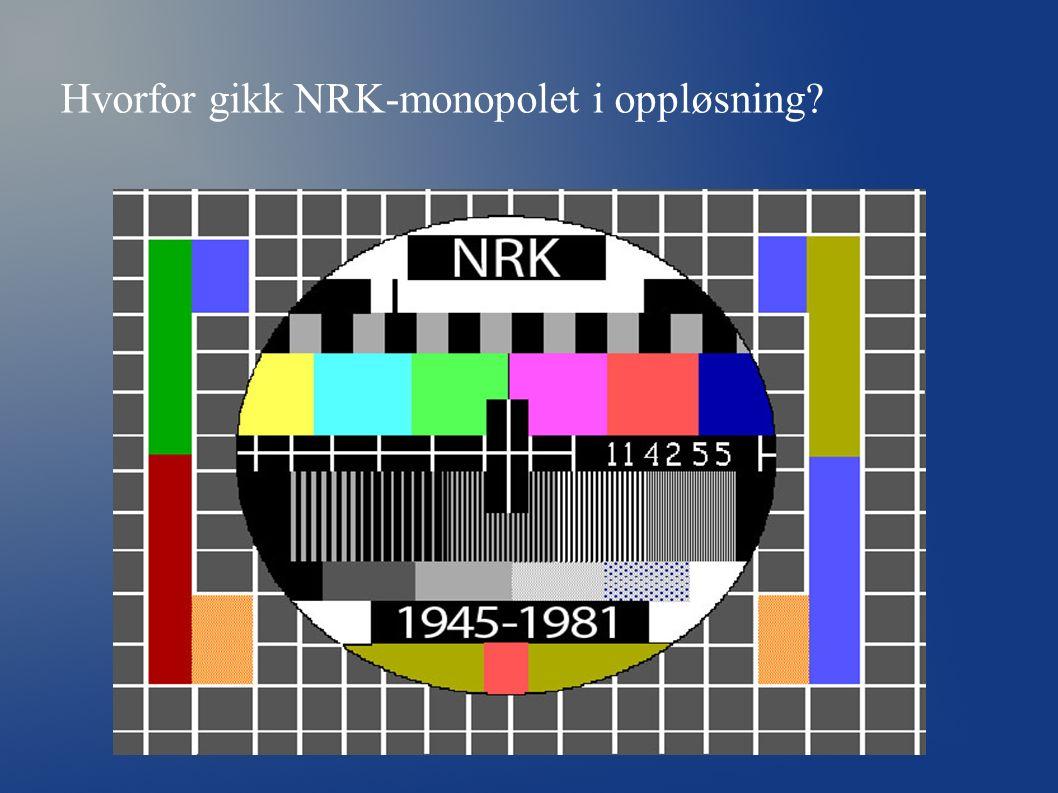 Hvorfor gikk NRK-monopolet i oppløsning?