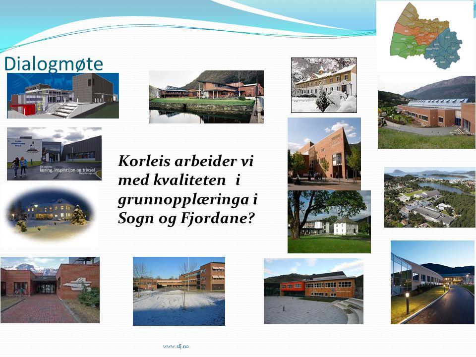 Dialogmøte www.sfj.no Korleis arbeider vi med kvaliteten i grunnopplæringa i Sogn og Fjordane