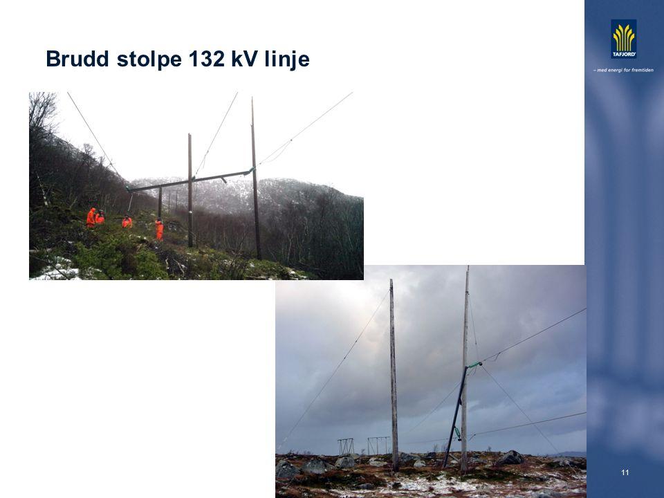 11 Brudd stolpe 132 kV linje