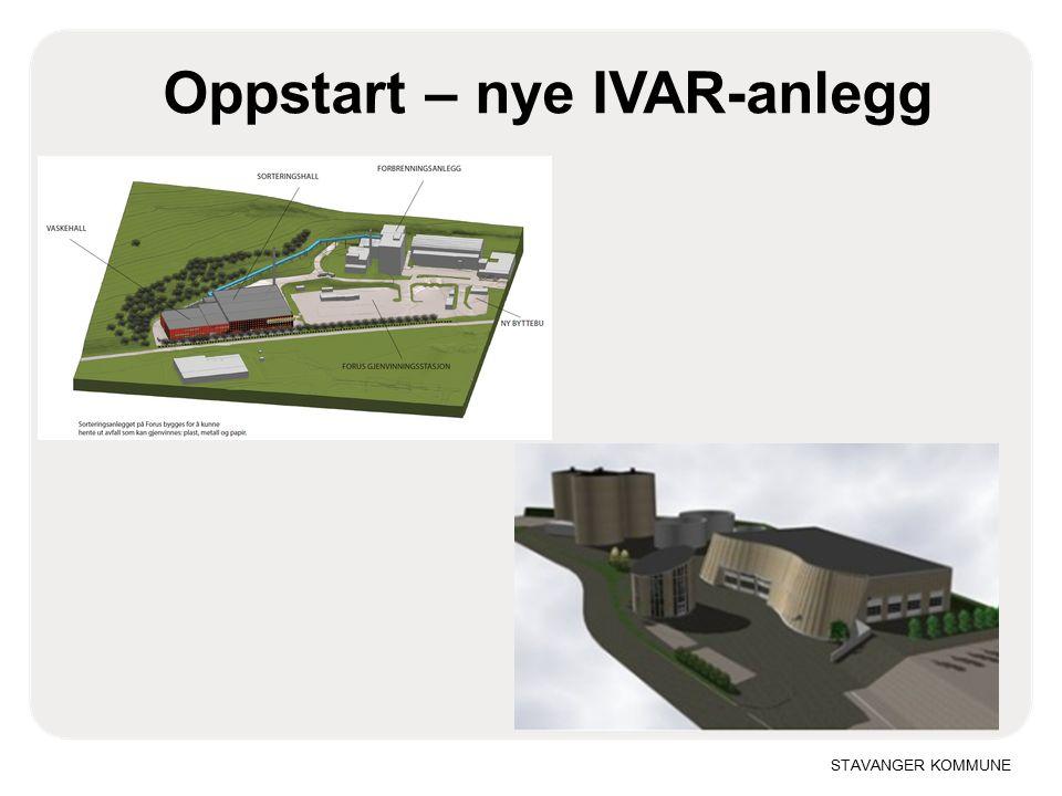 STAVANGER KOMMUNE Oppstart – nye IVAR-anlegg