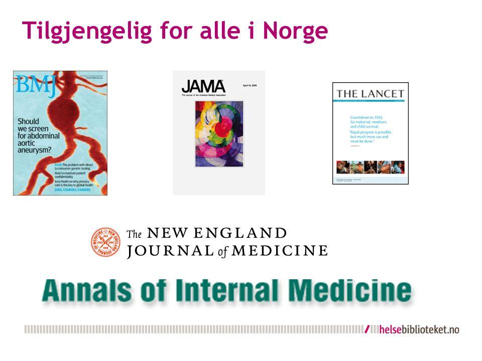 Tilgjengelig for alle i Norge