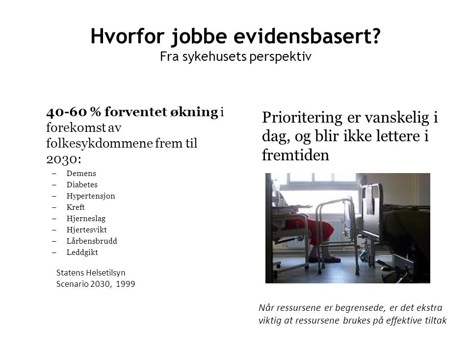 Kunnskap som fundament In the 21st century, knowledge is the key element to improving health.