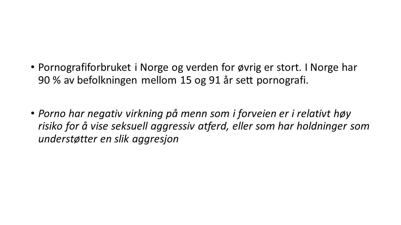 Pornografiforbruket i Norge og verden for øvrig er stort.