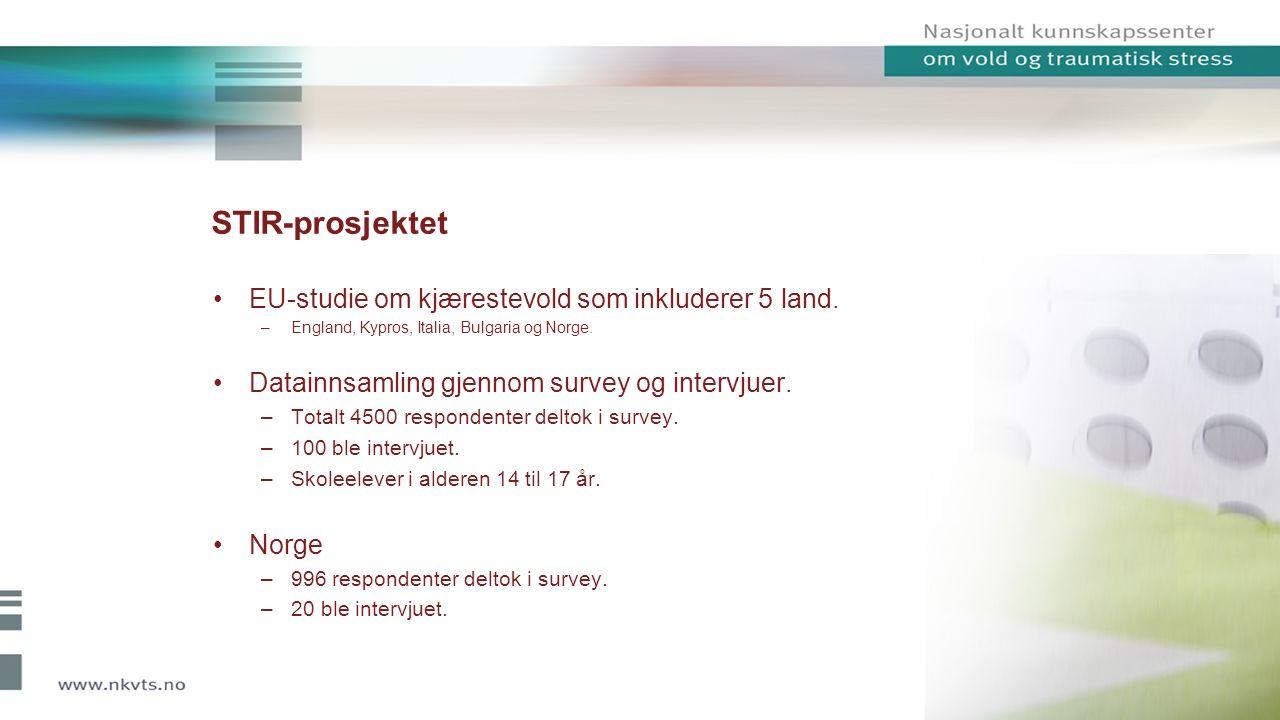 STIR-prosjektet EU-studie om kjærestevold som inkluderer 5 land.