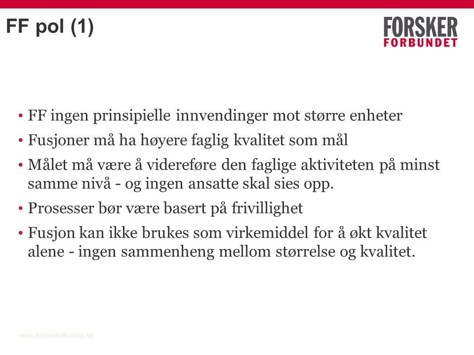 Status for fusjonstoget (for kont.