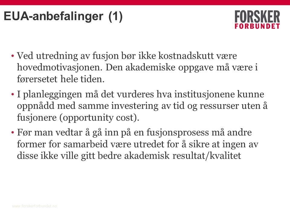 Strukturprosessen i UH-sektoren www.forskerforbundet.no