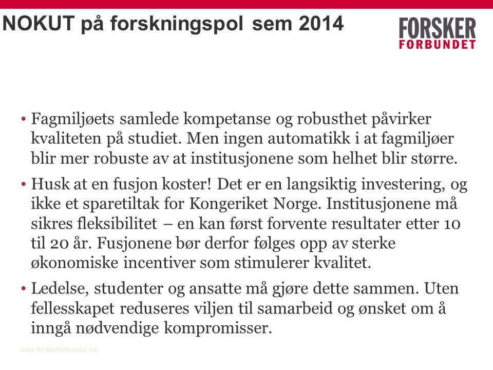 Instituttsektoren www.forskerforbundet.no