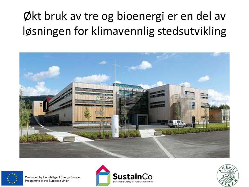 Økt bruk av tre og bioenergi er en del av løsningen for klimavennlig stedsutvikling