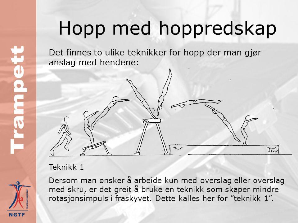Strak salto God rotasjon oppnås best ved å kombinere god fart i tilløpet med gunstig teknikk og kroppsstilling i satsen Strak salto er viktig å beherske, fordi det er denne saltoen som egner seg best ved skru over 360°