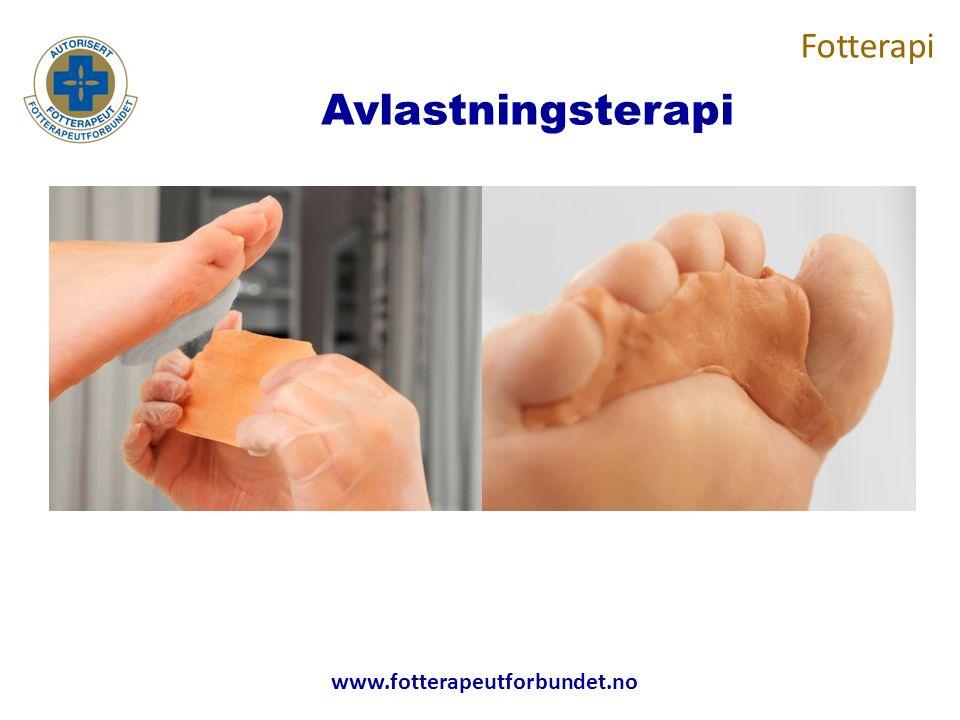 www.fotterapeutforbundet.no Avlastningsterapi Fotterapi