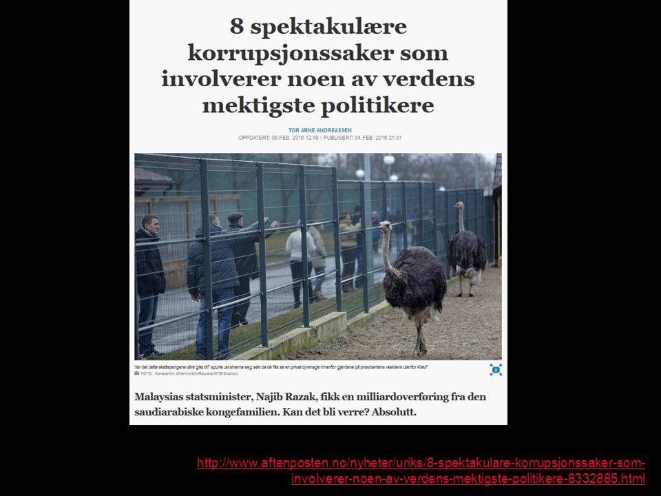 http://www.aftenposten.no/nyheter/uriks/8-spektakulare-korrupsjonssaker-som- involverer-noen-av-verdens-mektigste-politikere-8332885.html
