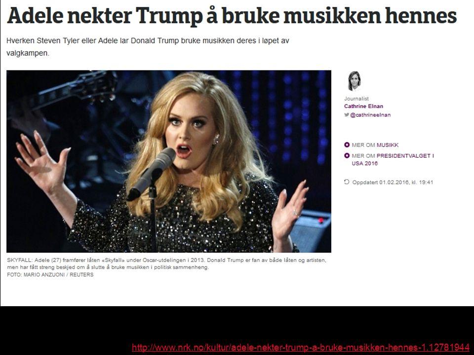 http://www.nrk.no/kultur/adele-nekter-trump-a-bruke-musikken-hennes-1.12781944