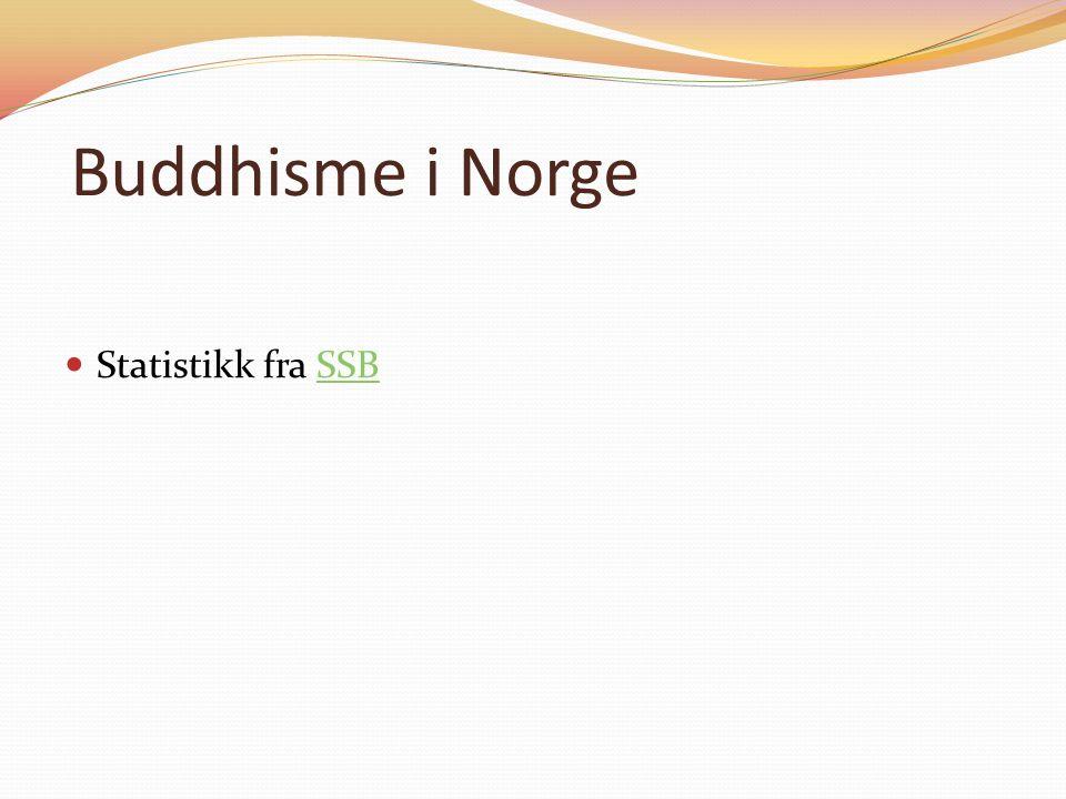 Buddhisme i Norge Statistikk fra SSBSSB