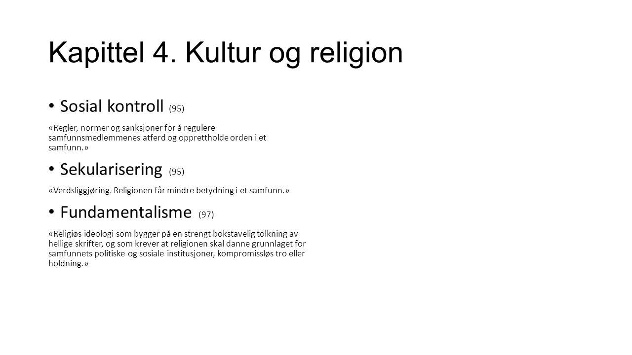 Kapittel 4. Kultur og religion De nye religiøse samfunnene i Norge New Age Karismatisk kristne