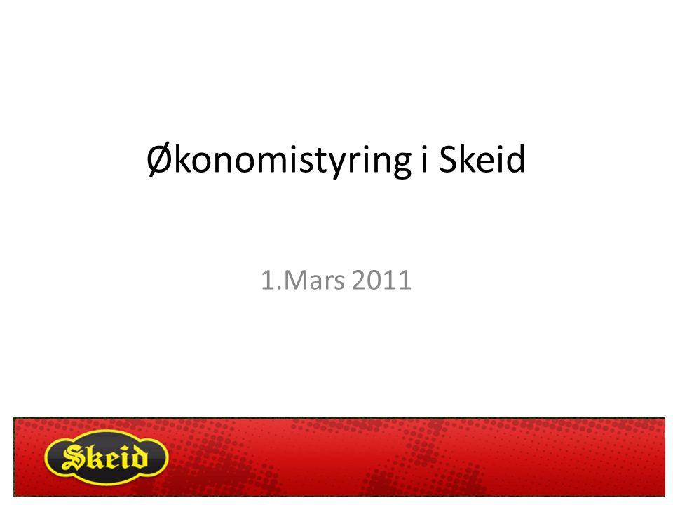 Økonomistyring i Skeid 1.Mars 2011