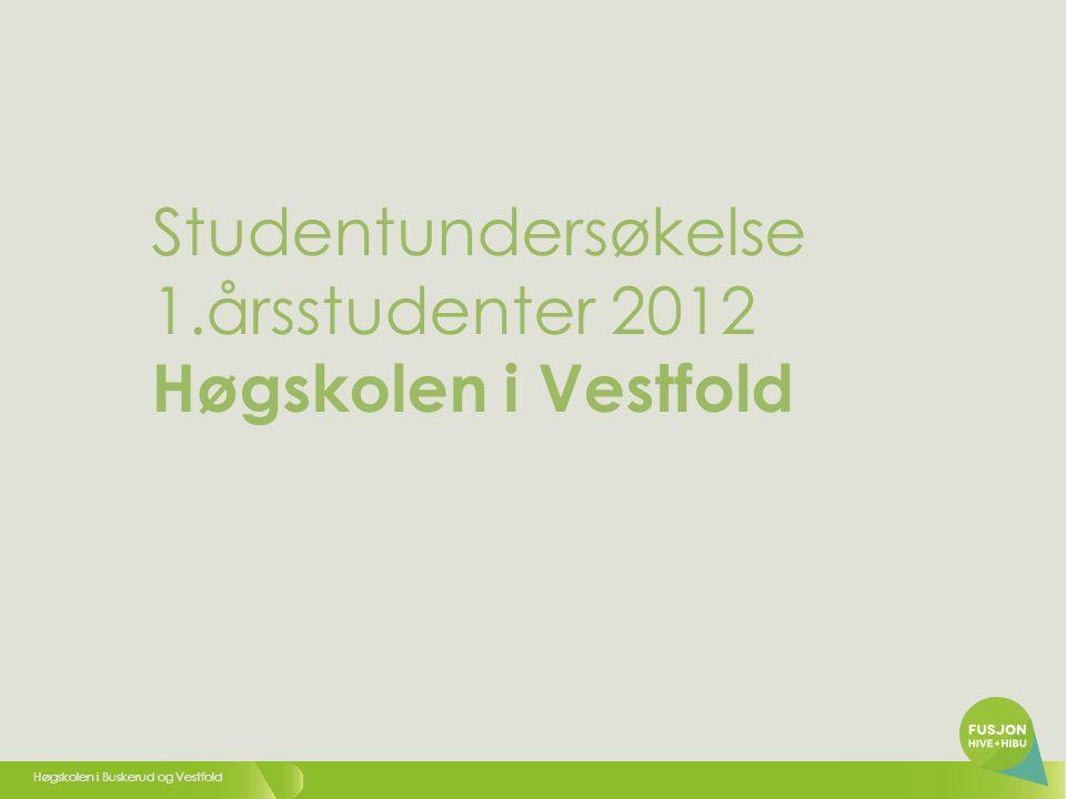 Høgskolen i Buskerud og Vestfold 2 1. Kjønn: 1Kvinne 2Mann