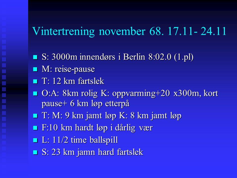 Vintertrening november 68.