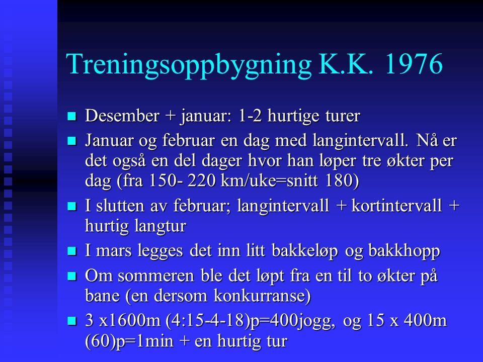 Treningsoppbygning K.K.