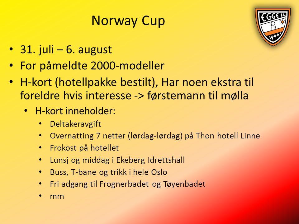 Norway Cup 31. juli – 6.