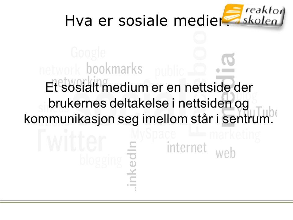 Hva er sosiale medier.