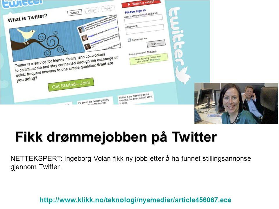 http://no.joblyn.com/ www.careerjet.no www.jobbdirekte.no www.kommunaljobb.no www.statsjobb.no Sosiale medier det nye jobbsøkermarkedet: Sosiale medier det nye jobbsøkermarkedet:
