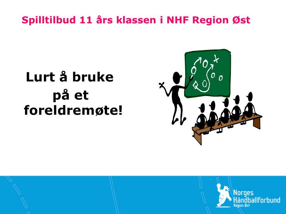 Spilltilbud 11 års klassen i NHF Region Øst Lurt å bruke på et foreldremøte!