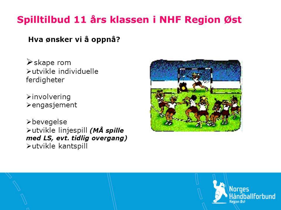 Spilltilbud 11 års klassen i NHF Region Øst Hva ønsker vi å oppnå.