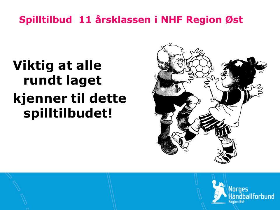 Spilltilbud 11 årsklassen i NHF Region Øst Viktig at alle rundt laget kjenner til dette spilltilbudet!