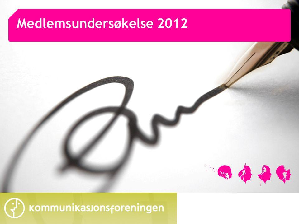 2 Oppsummering Undersøkelsen blant Kommunikasjonsforeningen er gjennomført i februar 2012 Kommunikasjonsforeningen gjennomfører undersøkelse blant sine medlemmer ca hvert annet år.