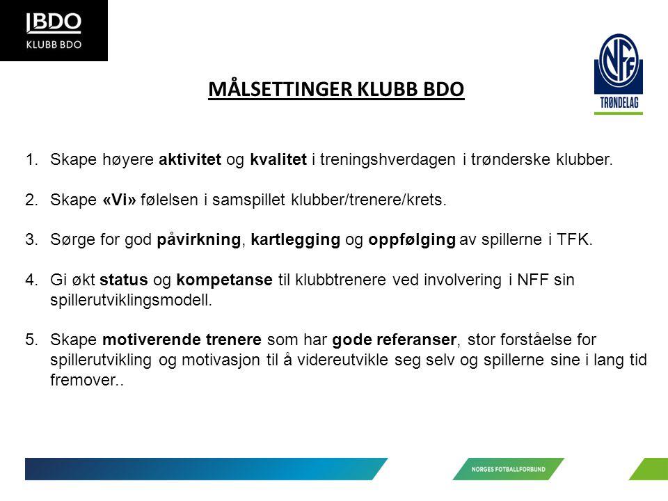1.Skape høyere aktivitet og kvalitet i treningshverdagen i trønderske klubber.