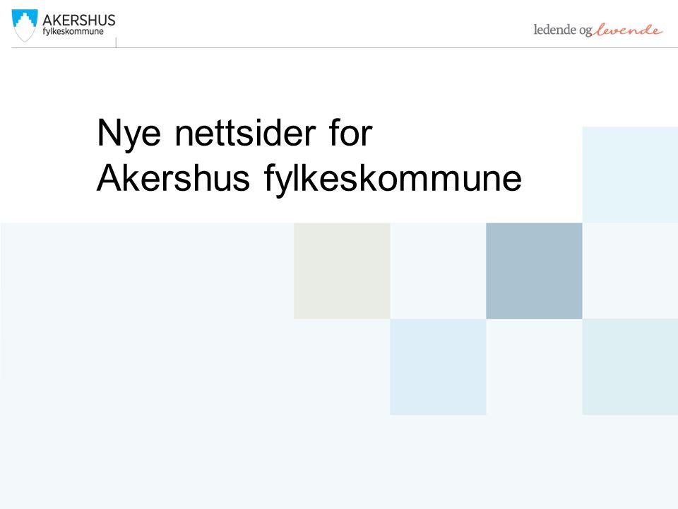 Nye nettsider for Akershus fylkeskommune