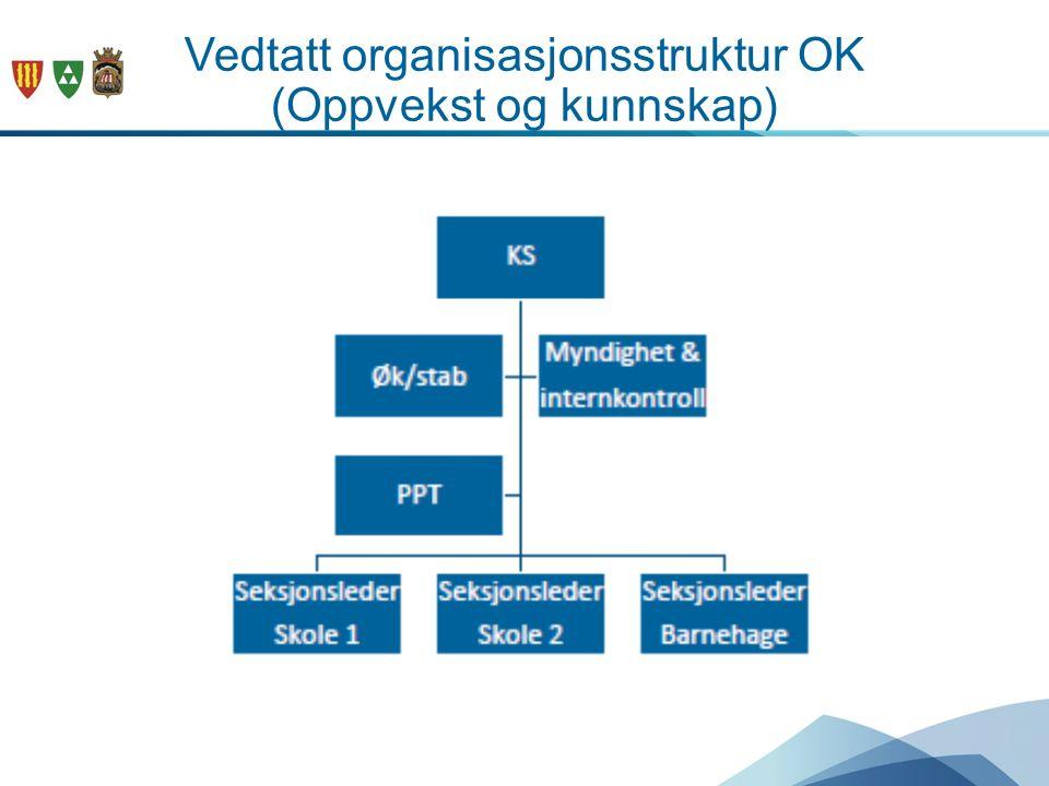 Vedtatt organisasjonsstruktur OK (Oppvekst og kunnskap)
