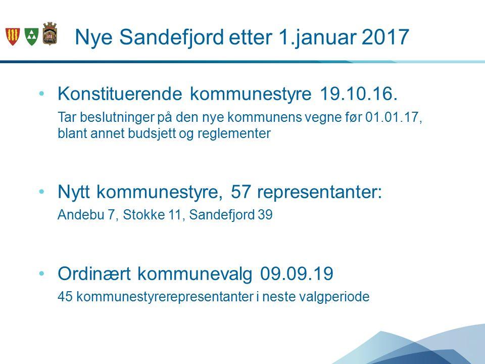 Nye Sandefjord etter 1.januar 2017 Konstituerende kommunestyre 19.10.16.