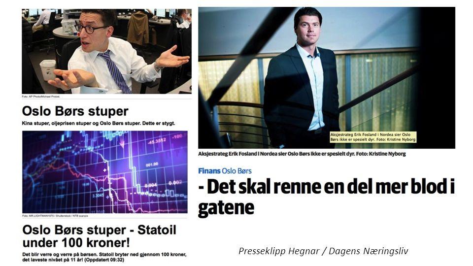 Hegnar Presseklipp Hegnar / Dagens Næringsliv