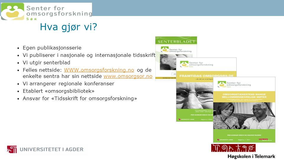 Rehabilitering i sykepleieutdanning v/UiA I gradsstrukturen Bachelor sykepleie Master Doktorgrad/phd.