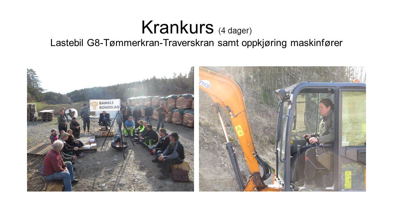 Krankurs (4 dager) Lastebil G8-Tømmerkran-Traverskran samt oppkjøring maskinfører