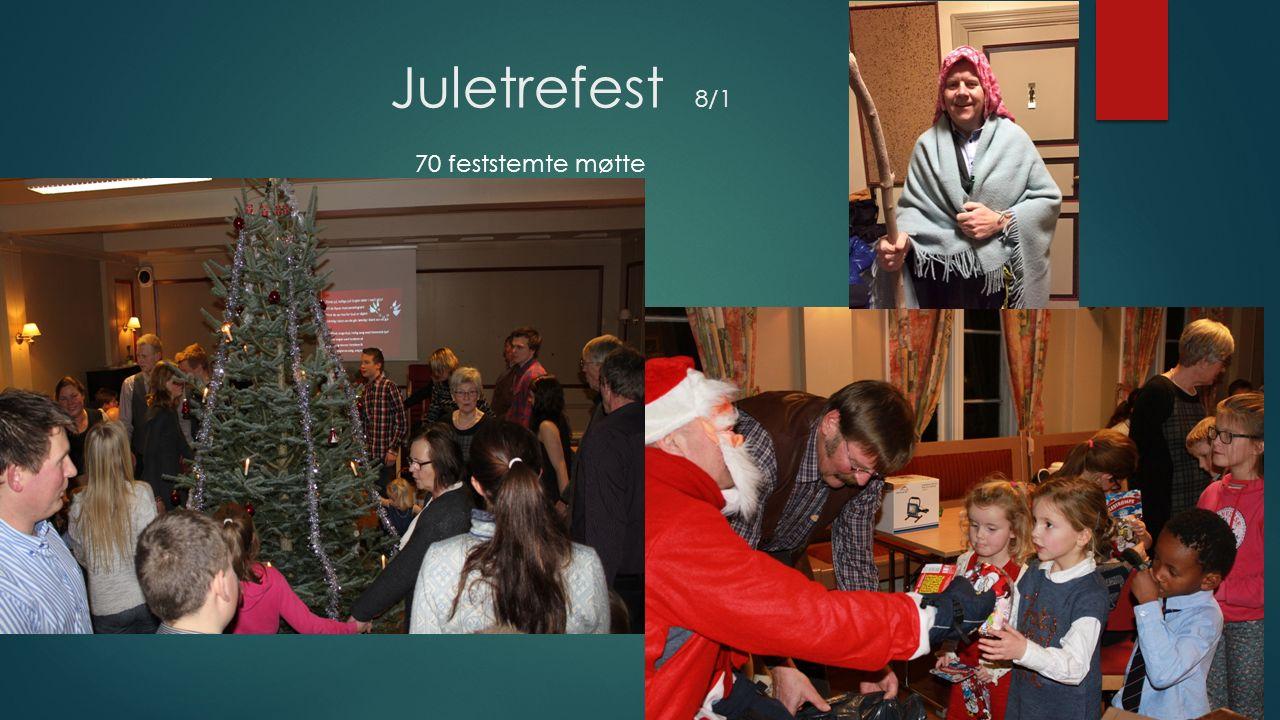 Juletrefest 8/1 70 feststemte møtte