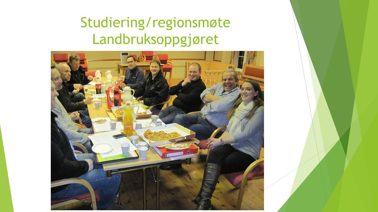 Studiering/regionsmøte Landbruksoppgjøret