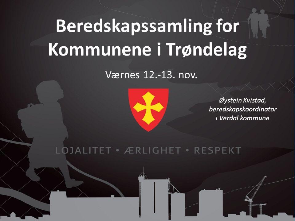 Beredskapssamling for Kommunene i Trøndelag Værnes 12.-13.