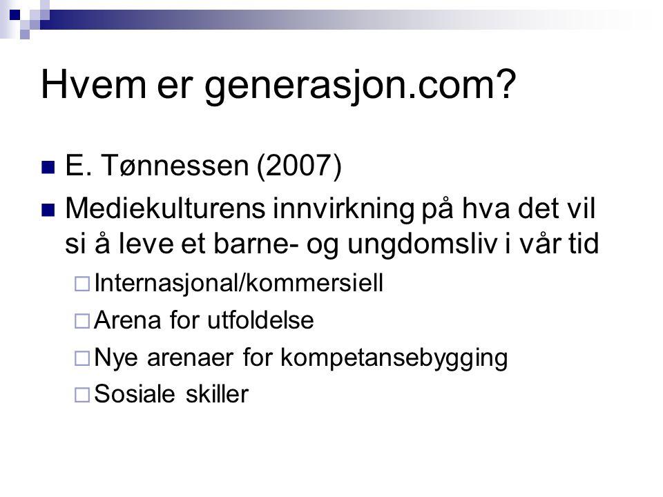 Hvem er generasjon.com. E.