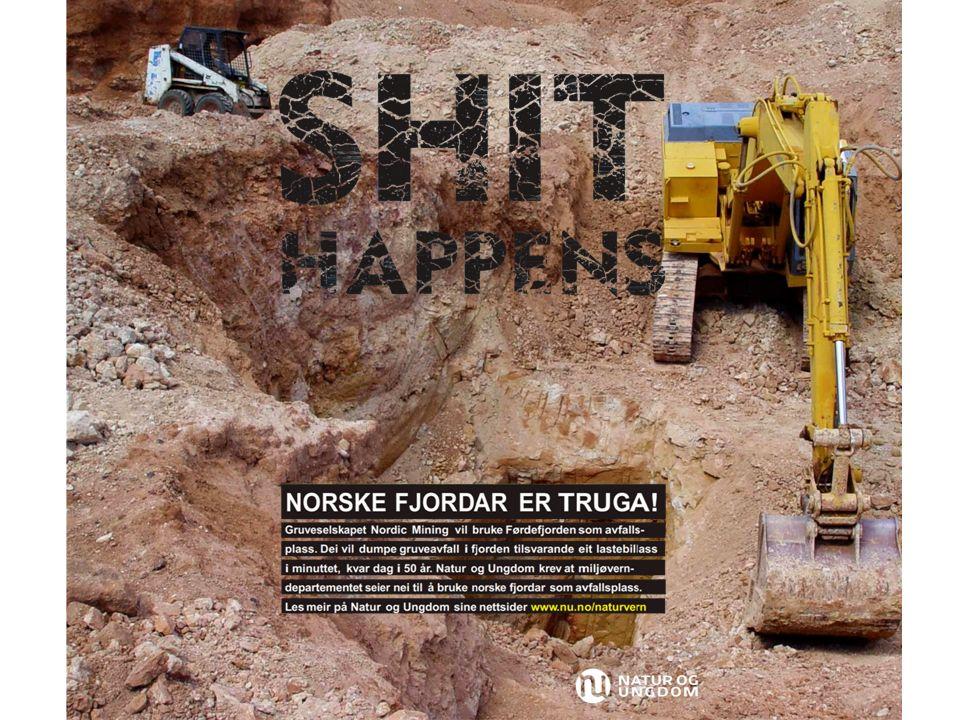 Bakgrunnsfotografiet er erstattet med et bilde som viser en side av gruvedrift.