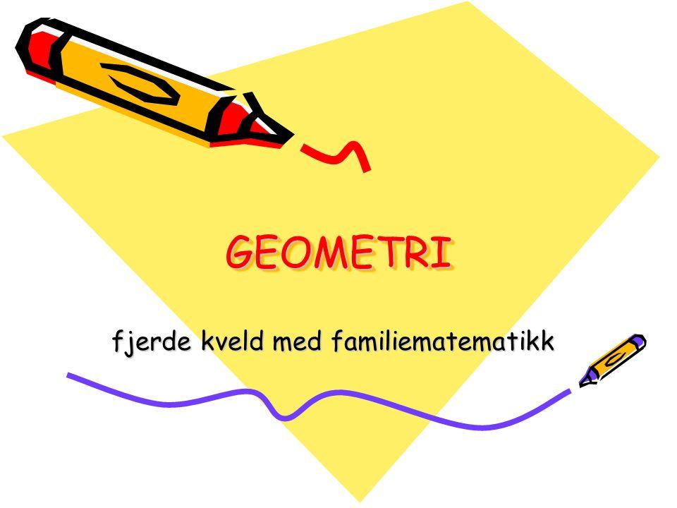 GEOMETRI Former.–Namn og kjenneteikn. To og tre dimensjonar.