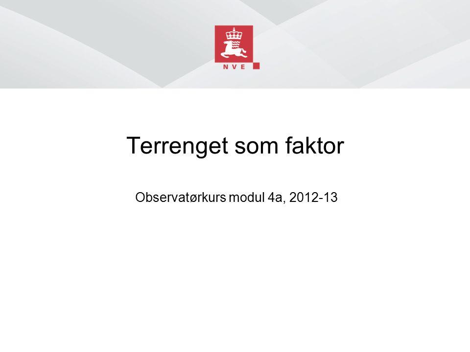 Norges vassdrags- og energidirektorat Innhold ■ Bratthet ■ Terrengform ■ Himmelretning ■ Høydenivå ■ H.o.h ■ klimasone
