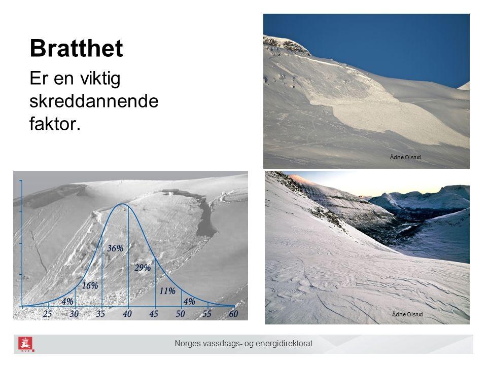 Norges vassdrags- og energidirektorat Bratthet Er en viktig skreddannende faktor.