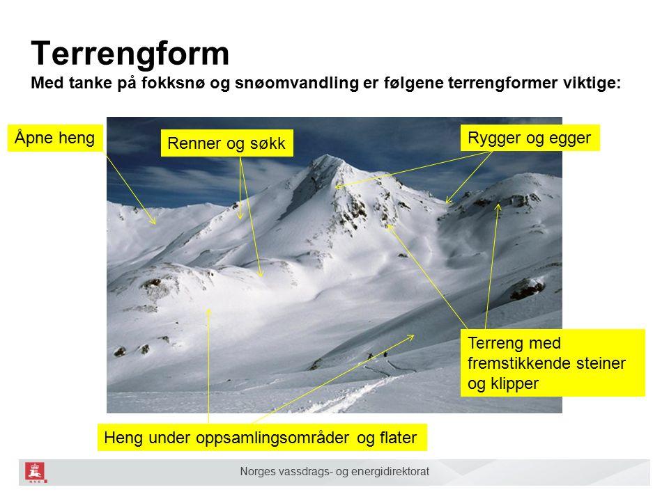 Norges vassdrags- og energidirektorat Renner og søkk Samler fokksnø.