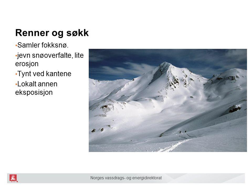 Norges vassdrags- og energidirektorat Heng nedenfor oppsamlingsområder / flater Heng nedenfor oppsamlingsområder