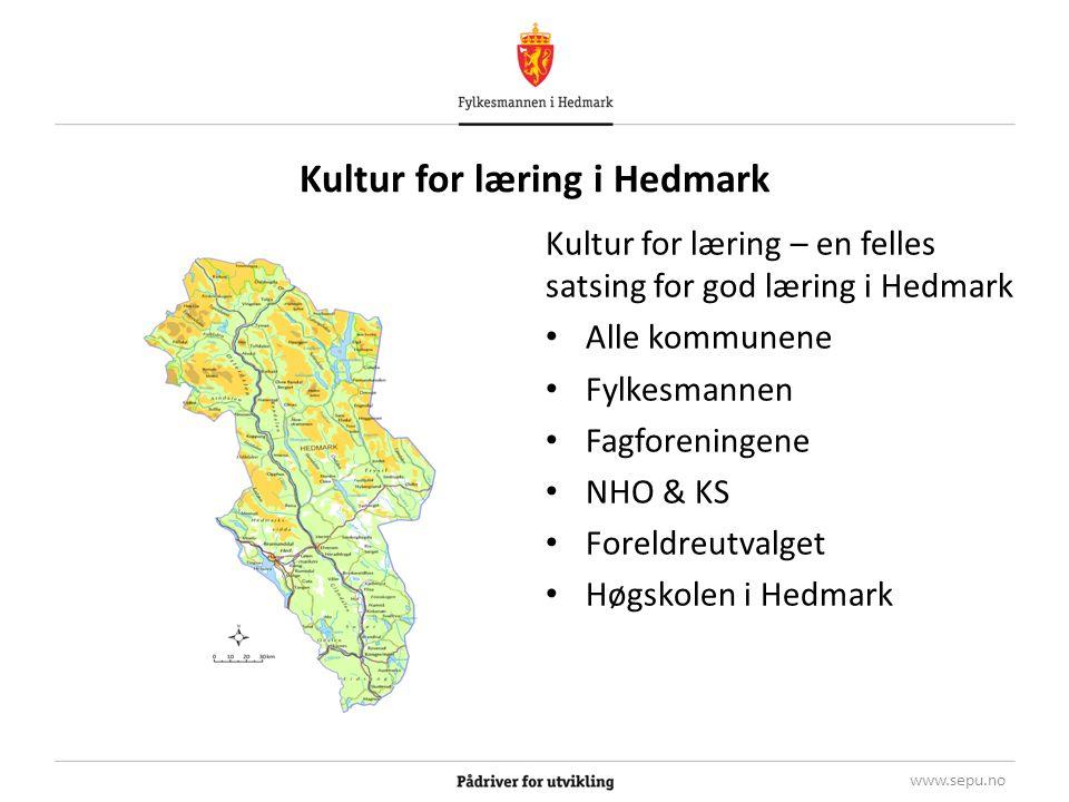 Kultur for læring – overordnede målsettinger: De faglige resultater i grunnskolen i Hedmark skal heves og elevene skal forberedes på framtidens samfunns- og arbeidsliv.