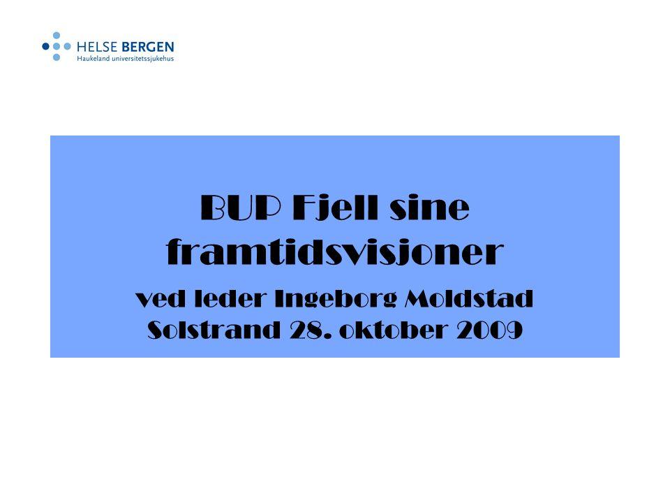 BUP Fjell sine framtidsvisjoner ved leder Ingeborg Moldstad Solstrand 28. oktober 2009