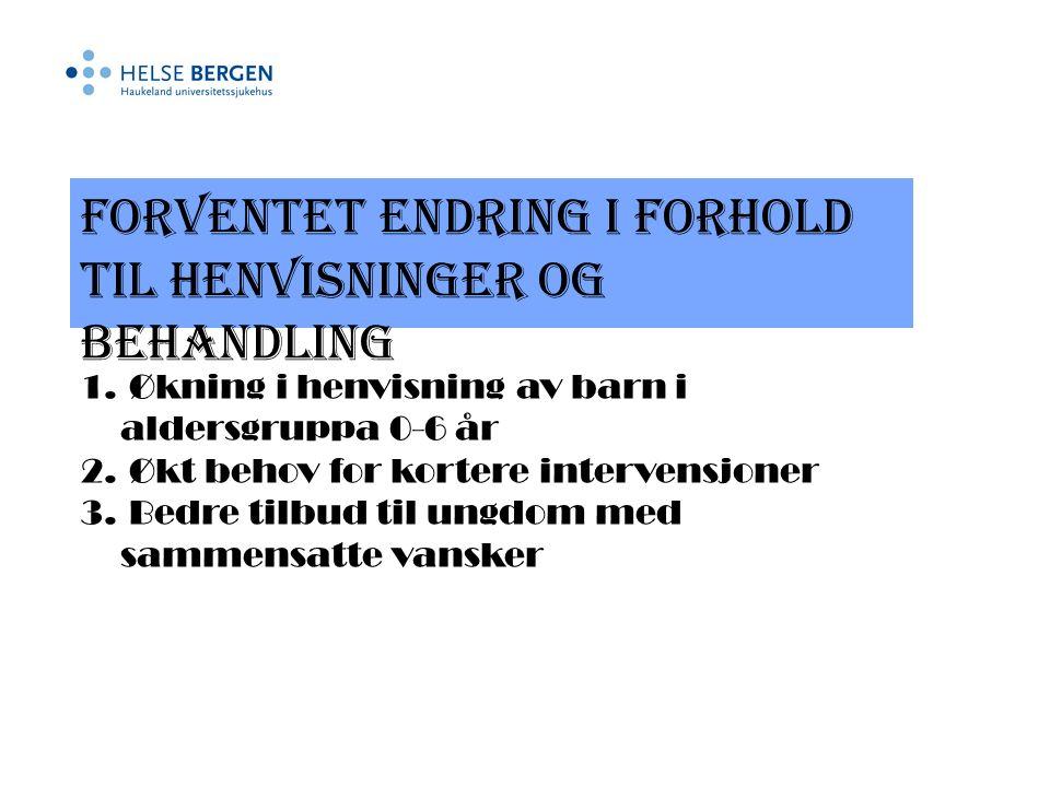 Samarbeid om kompetanseheving 1. Familiesamtaler 2. ADHD 3. Miljøterapi 4. Spe- og småbarn
